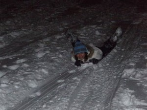 Holly Corbett Sledding