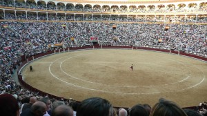 Sunday bullfight in Madrid