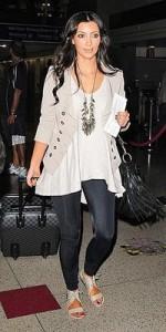 Kim Kardashian in an airport