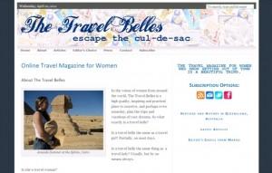 Online travel magazine the Travel Belles