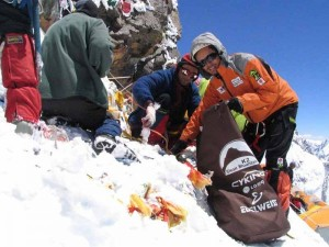 Sherpas Clean Up Mount Everest