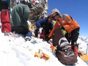 Sherpas Clean Up Mount Everest