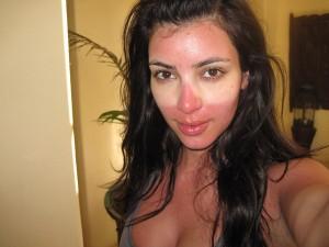 Sunburned Kim Kardashian