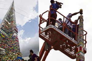 World's tallest lego tower built in Sao Paulo, Brazil