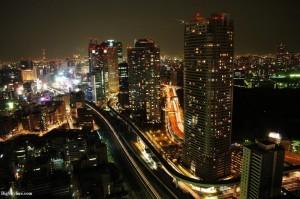 Lit-up skyline of Tokyo