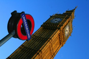 Westminster Tube Stop for Big Ben