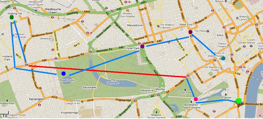 London Map SelfGuided Walking Tour – London Neighborhood Map