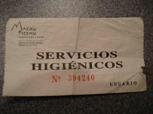 Machu Picchu bathrooms