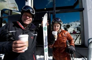 Ski Through Starbucks