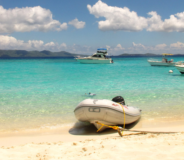 Dingy on White Bay, Jost Van Dyke