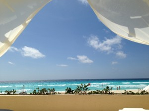 View from a cabana at Live Aqua