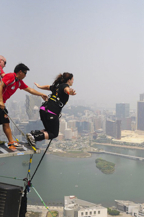 Preparing for China's Biggest Leap of Faith: The Macau Tower Bungy Jump